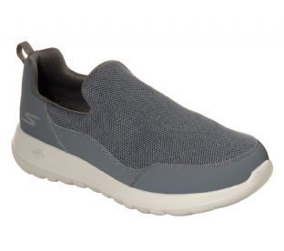 Mens Skechers 54626 CHAR GOwalk Max Privy Grey Slip-On Trainers